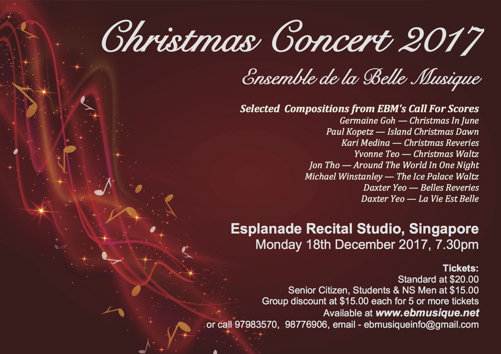 Singapore Christmas Concert 2017 beautiful and melodious music